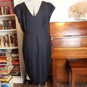 J. Crew navy sheath dress